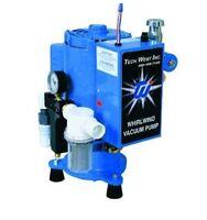 Tech West Dental Whirlwind Liquid Ring Vacuum Pump W/ Water Recycler 4 User 2 Hp