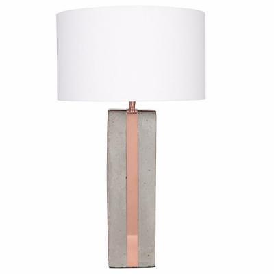 Concrete Copper Table Lamp Base