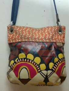 FOSSIL-Key-Fer-Purse-Shoulder-Bag-Patterned-Paisley-Hobo-Med-Size