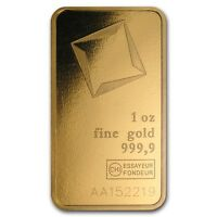 1 oz Valcambi Suisse Gold Bar In Assay .9999 Fine