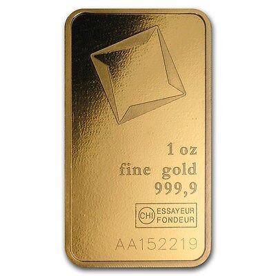 1 oz Valcambi Suisse Gold Bar In Assay .9999 Fine - SKU #88352