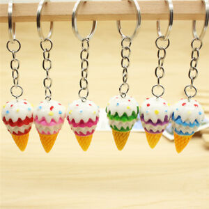 Cute-Ice-Cream-Key-Chain-Pendant-Keyring-Gift-Bag-Purses-Key-Chain-Ring-Jewe-QA
