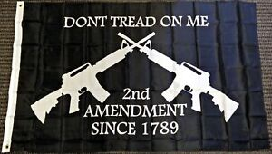 3x5-Dont-Tread-on-Me-Second-Amendment-M4-Rifle-Flag-Polyester-Protest-Banner-Gun