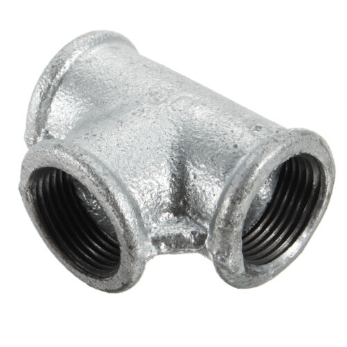"""3//4/"""" 1//2/"""" 1/""""  Retro Malleable Cast Iron Tee Pipe//90° Elbow Joint//Pipe Coupling"""