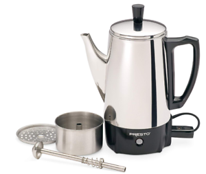 Electric-Coffee-Percolator-Vintage-Maker-Pot-Stainless-Steel-6-Cup-Portable-New