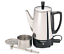 Electric-Coffee-Percolator-Vintage-Maker-Pot-Stainless-Steel-6-Cup-Portable-New thumbnail 1
