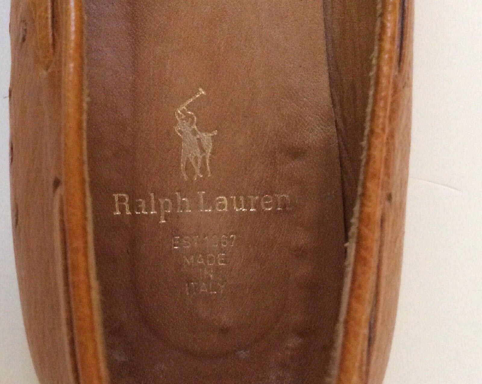 Ralph Lauren Lauren Lauren Vtg Collection Donna Ostrich Tassel Slip On Loafer Sz 8AA abb5ef