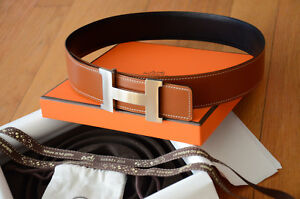 a8ba90b612af4a Image is loading 42MM-Hermes-Original-Belt-Brown-Reversible-Belt-Silver-