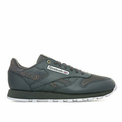 Mens Reebok Classic Leather Mu Trainers In Mc-Stealth/Banana/White