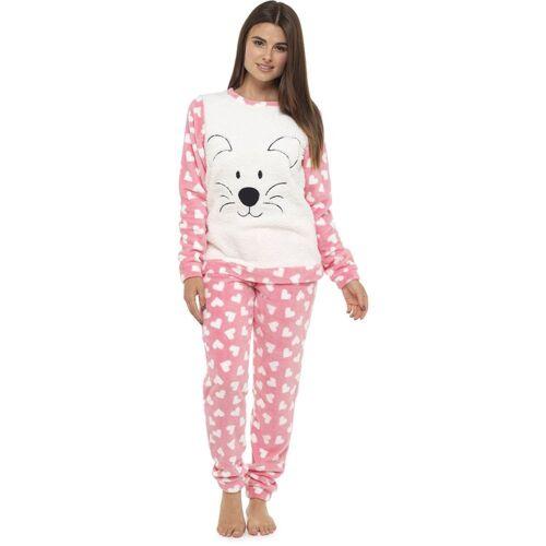 Womens Winter Warm Cosy Traditional Sleep suits Pyjamas Set Nightwear LN685