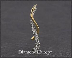 Diamant-Brillant-Gold-Damen-Anhaenger-mit-1-05-ct-585-Weissgold-amp-Gelbgold-50-mm