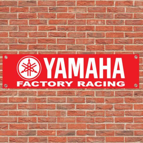 Yamaha Logo Racing Motorcycle Motorbike Sign Garage Workshop Banner Display R