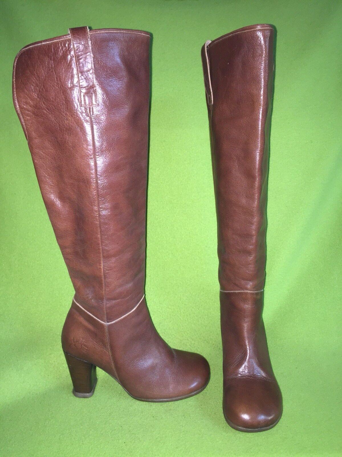 Man/Woman Brown Fluevog Operetta Boots 9 High-quality Quality First best seller