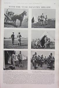 1902 Imprimé ~ The Tyne Infanterie Brigade Hansom 'arrival' - L'arrivée Whmvsaoc-07214824-724617286