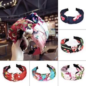 Women-Headband-Twist-Hairband-Bow-Knot-Cross-Tie-Wide-Headwear-Hair-Band-Hoop