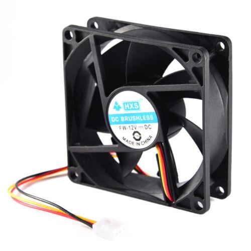 40mm 50mm 60mm 70 mm 80mm DC 12V Black Square Cooling Fan For Computer PC Case