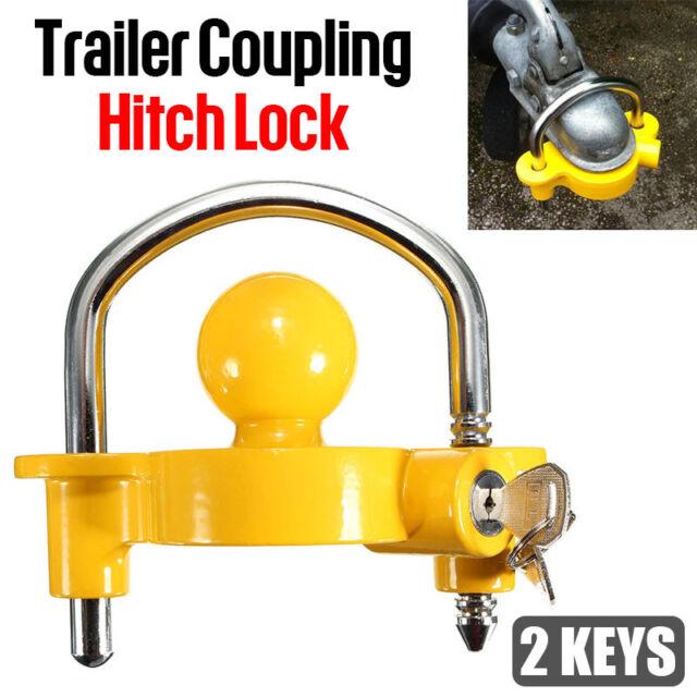 Trailer Parts Coupling Hitch Lock Universal Tow Ball Caravan Camping Anti Theft