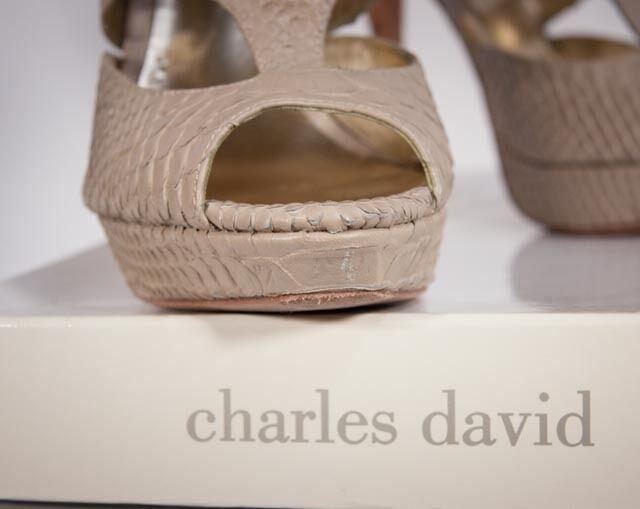 CHARLES DAVID-DRAMA Snakeskin Leder Größe platform Heels Größe Leder 6 a866a9