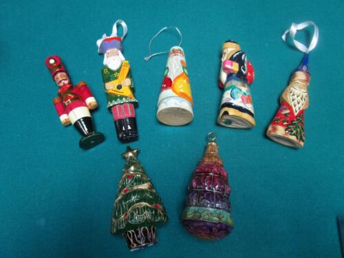 RUSSIAN CHRISTMAS ORNAMENTS HAND CARVED AND HANDPAINTED a5