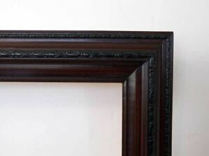 Picture-Frame-For-Oil-Painting-Dark-Cherry-Wood-20-X-24