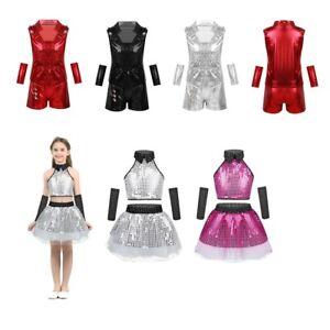 da9ec860a Girl Child Kids Ballet Dance Latin Jazz Tutu Costume Party Outfit ...