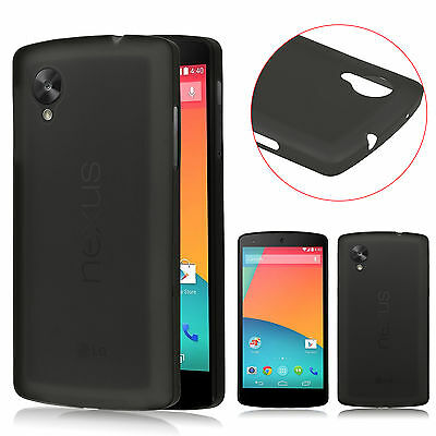 Black Soft 0.3mm Ultra Thin Matte Back Case Cover Skin for LG Google Nexus 5