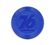 LARGE SIZE UNION 76 BLUE PLASTIC TOKEN COIN - GASOLINE TAX INFORMATION ON BACK