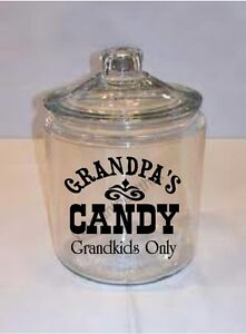 Grandpa-039-s-Candy-Vinyl-Decal-Word-Canister-Sticker