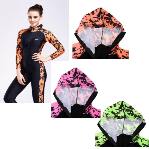 Breathable Full Body Swimsuit Wet Dive Suit with Long Sleeve & Leg for Women