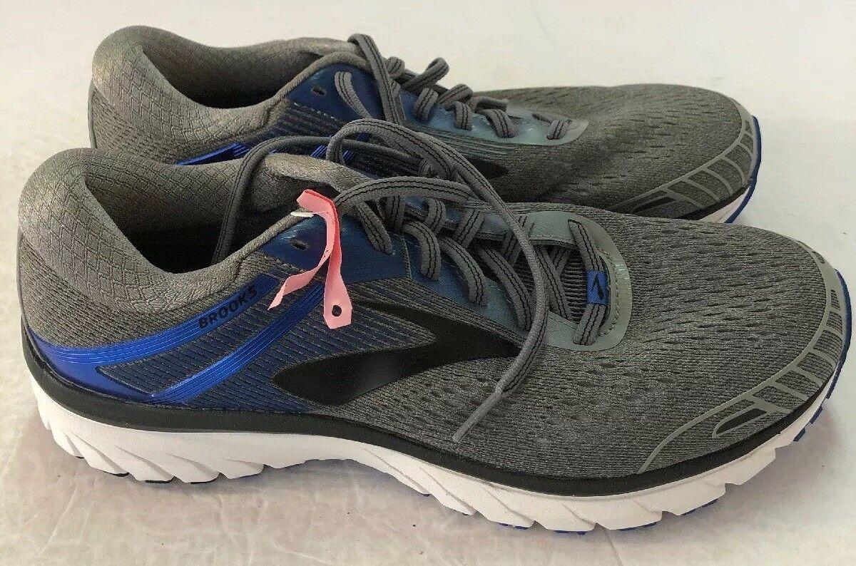 Brooks GTS 18 Adrenaline Para Hombres Zapatos para Correr-EE. UU. Sz 15 Extra Ancho gris Azul