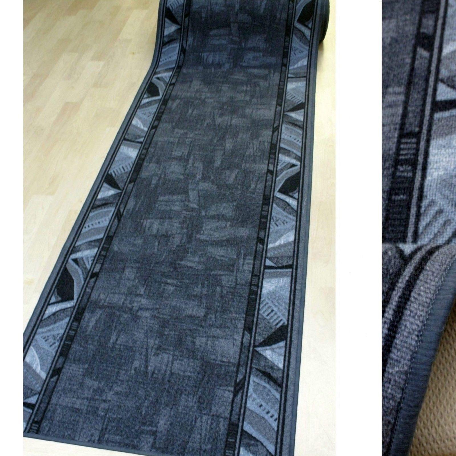 Grana fine tappeto Alfiere  AW CORRIDO 97 basalto  80 cm di larghezza NUOVO