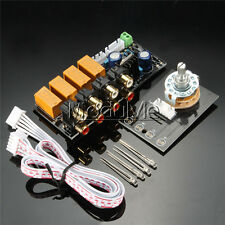 Audio Input signal Selector Relay Board/ Signal switching amplifier board DIY MO