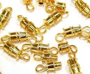 20-BEST-METALLVERSCHLUSS-VERSCHLUSSE-SCHRAUBVERSCHLUSS-VERBINDER-14mm-GOLD-M29