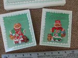 Longaberger-Roger-amp-Ginger-Cookie-Molds-NEW-collectible