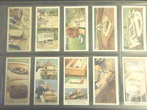 1938-Wills-GARDEN-HINTS-flowers-plants-Tobacco-Cigarette-50-cards-complete-set
