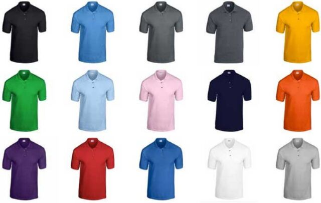 Men's Polo Shirt DryBlend™ jersey knit Short Sleeves Moisture Wicking Fabric