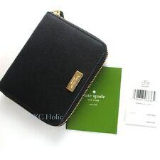 New Kate Spade Cara Laurel Way Saffiano Leather Medium Bifold Wallet in Black