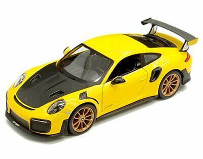MAISTO 1:24 PORSCHE 911 GT2 RS DIE-CAST YELLOW//MATTE BLACK 31523