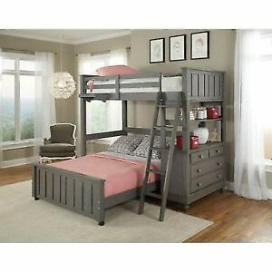 Ne Kids Lake House Stone Twin Loft With Full Lower Bed 2040nlfb Ebay