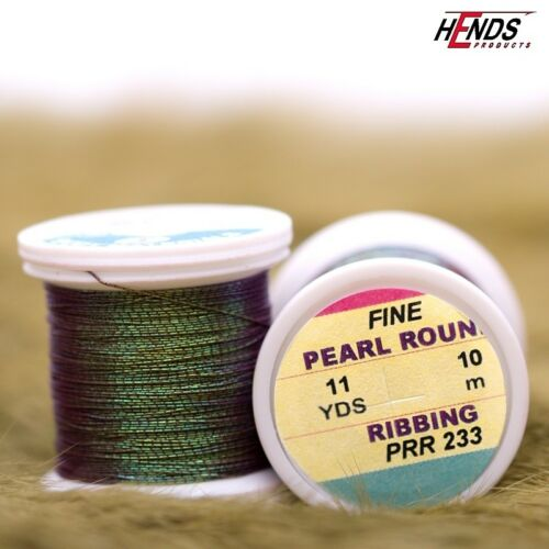 HENDS FINE PEARL ROUND RIBBING PICK COLOR FLY and JIG TYING 11 Yard Spools