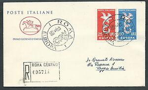 1958 Italia Fdc Cavallino Europa Timbro Arrivo - K1 Ventes Pas ChèRes 50%