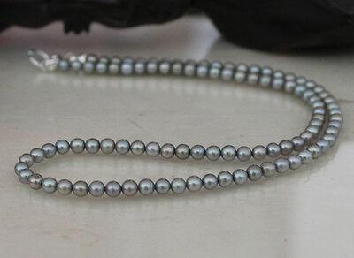 4mm  Perlenkette 925silber Süßwasserperlen super Qualität