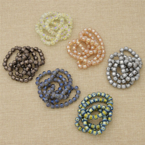Rond Coloré Verre Brillant Perles À faire soi-même Jewelry Making 9 mm Charms Findings Crafts
