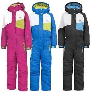 64a2c2906 TRESPASS WIPER BOY GIRL UNISEX ONE PIECE KIDS ALL IN ONE SKI SNOW ...