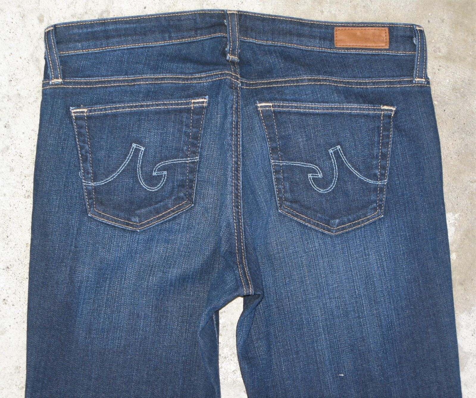 AG ADRIANO goldSCHMIED Angelina Jeans Sz 29 Petite Bootcut Dark Distressed