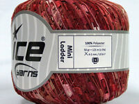 Ice Yarns Mini Ladder Ribbon Trellis 1 Skein 50gr Burgundy 46512 Polyester