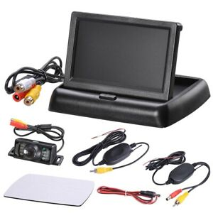 Car Backup Camera Rear View System Night Vision + Wireless 4.3
