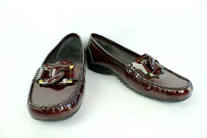 Varnish 5 Uk 6 Mocassini Bordeaux Ottime Gatinhas Las 40 condizioni T Leather 4xn6qIUw6F
