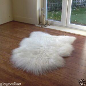 Image Is Loading Natural Icelandic Sheepskin Rug Small White Long