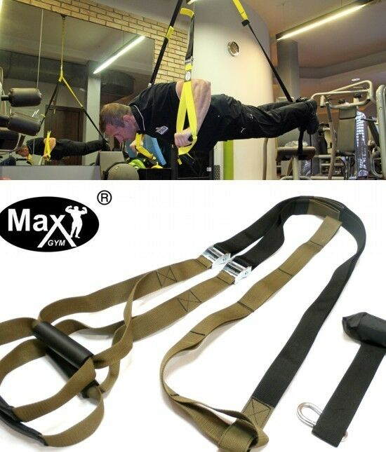 MaxGym  Suspension Body Trainer Straps pull up Exercise crossfit fly tactical